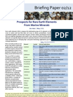 Prospects for Rare Earth Elements From Marine Minerals