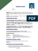 Document Controller CV 1 1