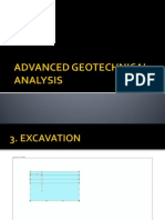 Advanced Geotechnical Analysis Excavation