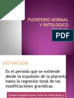 PUERPERIO PATOLOGICO