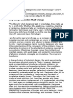 Norman 2010 Why Design Education Must Change