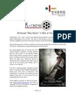 July K-Cinema screening - War of the Arrows