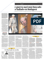 El Criminal Nazi Mas Buscado Del Mundo Fue Hallado en Budapest
