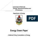 Government of Bermuda, Energy Green Paper - A National Policy Consultation on Energy, 2-2009