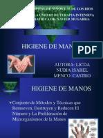 Higiene de Manos Terapia 2010