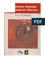 Leo Kanner. Trastornos autistas del contacto afectivo. Prólogo de Marcel Arvea Damián