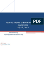 National Alliance to End Homelessness Conference July 2012