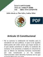 EXPOSICION ANALISIS ARTÍCULO 15 CONSTITUCIONAL