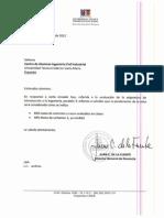 Respuesta Centro Alumnos Industrial, Dirección de Docencia.