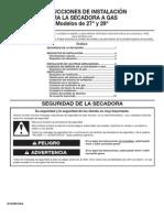 Manual de Instalacion Secadora