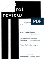 Margaret Sanger's Birth Control Review Oct, 1937