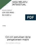Ciri-Ciri Penulisan Skrip Pengacaraan Majlis