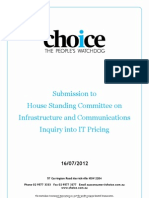 CHOICE Submission IT Price Inquiry July 2012