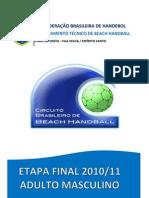 Relatório Final Brasileiro Masculino 2010-11