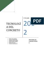 INFORME Nº2 DE LABORATORIOS DE TECNOLOGÍA DEL CONCRETO