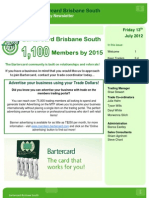 Bartercard Brisbane South Newsletter 13-7-12