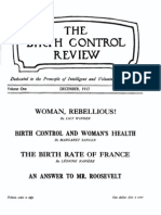 Margaret Sanger's Birth Control Review December 1917