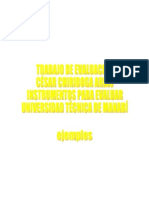 César Chiriboga Arias ejemplos de evaluación