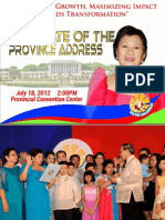 State of the Province Address 2012 of Gov. Sol F. Matugas