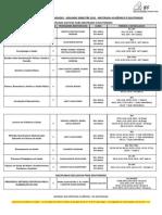 Calendário de disciplinas 2012.2 MA e DO