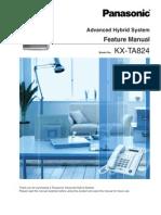 KX TA824 Feature Manual