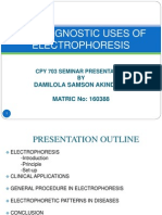 The Diagnostic Uses of Electrophoresis