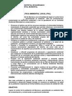 Sintesis Politica Ambiental Local Barranco