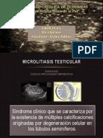 Microlitiasis Testicular