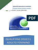 Relatorio Final Qualifying Adulto Feminino 2010