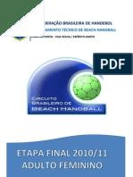Relatorio-CB Beach Handball Fem 2010-11
