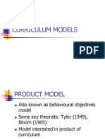 Curriculum Models Short