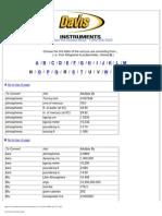 Conversion Formulas Page