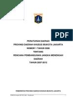 Perda Dan Lampiran RPJMD DKI 2007-2012