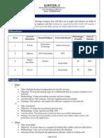 Resume of Karthik