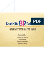 Revised Baskin Robbins Sales Strategy in India Case Analysis