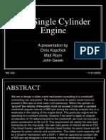 The Single Cylinder Engine