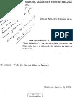 A Tecnica Do Efeito Fotoacustico Para o Estudo de Gases e Vapores de Alchool e Gasolina