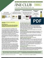 Wine Club Newsletter 11-12-08