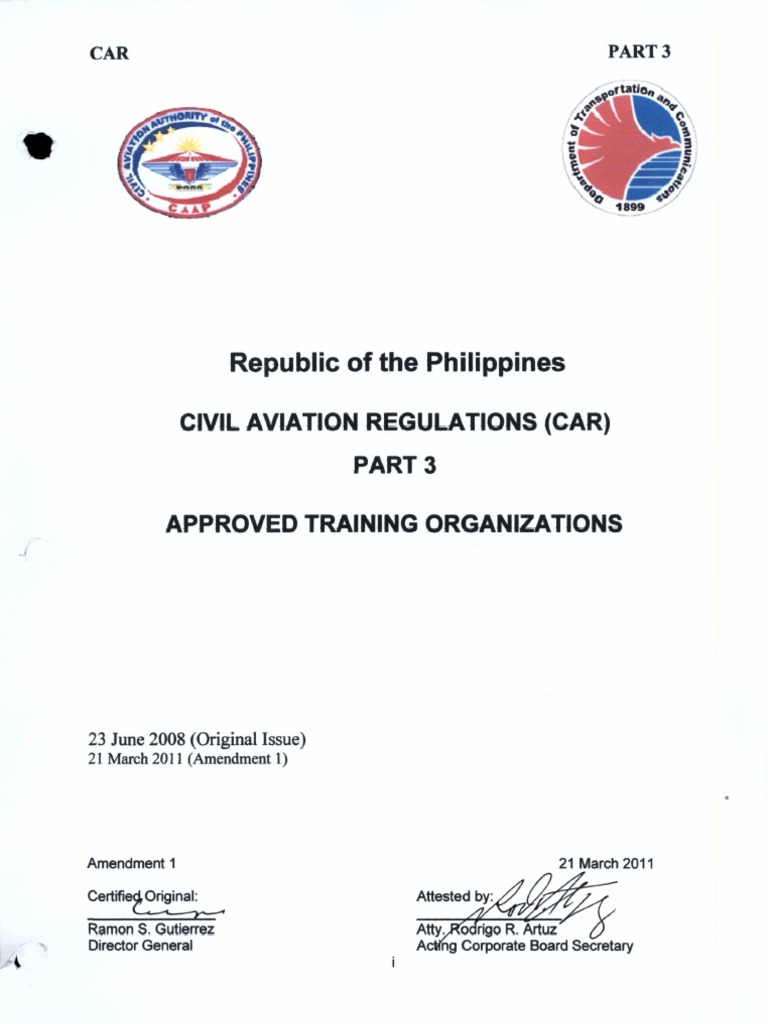 003 pcar approved training organizations 2 2011 flight rh scribd com