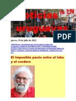 Noticias Uruguayas Jueves 19 de Julio Del 2012