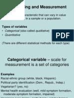 2. Sampling and Measurement