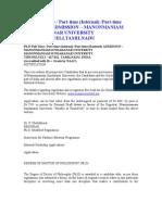 Ph.regulations - Manonmaniyam
