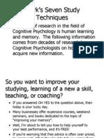 Bjork Seven Study Techniques