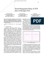 Effect of Different Propagation Delay of TCP Tahoe in Hexagon NoC