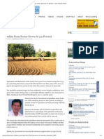 Indian Farm Sector Grows at 3
