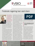 Federale regering kan veel doen, Infor VBO 25, 19 juli 2012