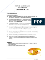 2008 Measurement Lecture Notes