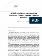 A Multivariate Analysis of the Auditor's Going-Concern Opinion Decision