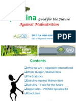 Algaetech - Spirulina PPT - Food for the Future