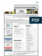 Mental Health and Social Care Bulletin No. 353 July 9th 2012